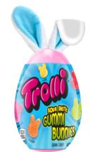 TROLLI SOUR BRITE GUMMI BUNNIES EGG WITH EARS, Ferrara Candy Co.